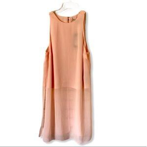 Guess Faded Pink Isabelle Sheer Overlay Tank XS